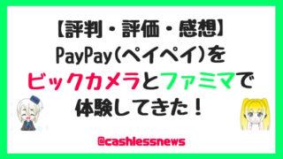 【評判・評価・感想】PayPay(ペイペイ)をビックカメラとファミマで使った体験談【メリット最高だが課題もあり】